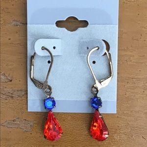 Jewelry - Brass and Crystal Earrings